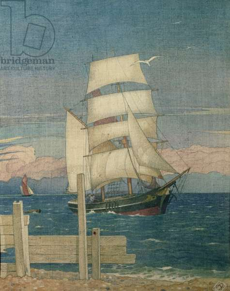 Ships Come Sailing (w/c)