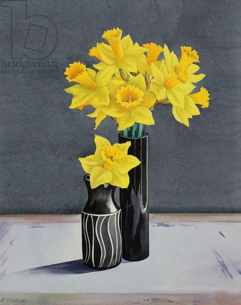 Still Life Daffodils (watercolour on paper)