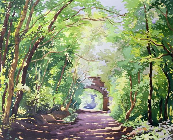The Valley Walk, Sudbury, 2001 (w/c on paper)