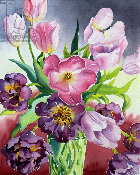 Tulips (watercolour on paper)