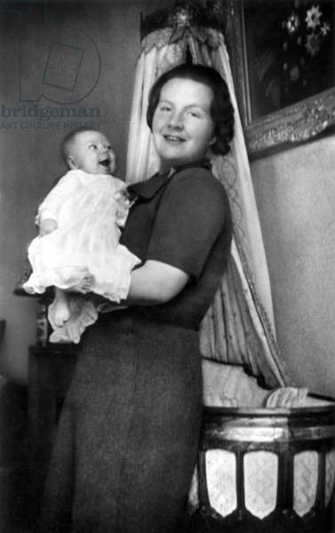 Princess Juliana of Netherlands (future queen) and her daughter Princess Beatrix, 1938