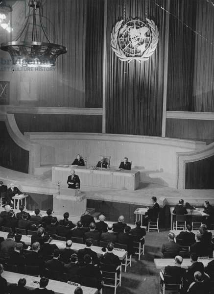 Attlee Broadcasts To The World At the Opening Of the United Nations Conference In London, 10th January 1946 (b/w photo)