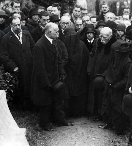 Funeral of French painter Claude Monet in Giverny, 1926