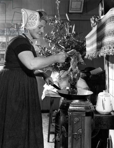 Christmas in Ritthem, Zeeland (near Vlissingen), 1949