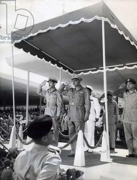 Colonel Gamal Abdel Nasser (b/w photo)
