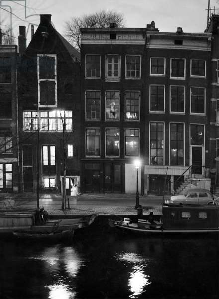 House of Anne Frank in Amsterdam, 1955