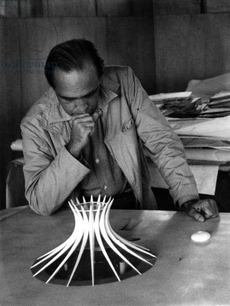 Oscar Niemeyer, c.1959 (b/w photo)