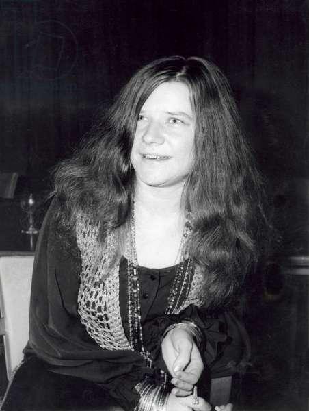 Janis Joplin, 1969-70 (b/w photo)