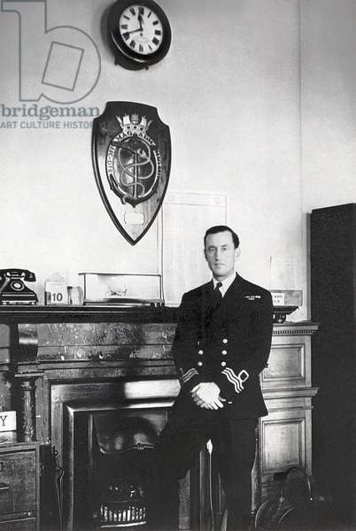 Ian Fleming at the Naval Intelligence Department (b/w photo)