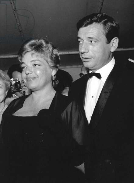 Yves Montand and Simone Signoret, 3rd May 1961 (b/w photo)