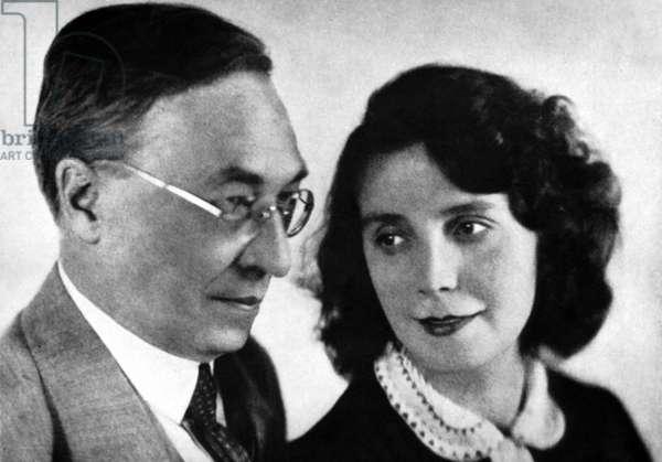 Wassily et Nina Kandinsky, c.1917 (b/w photo)