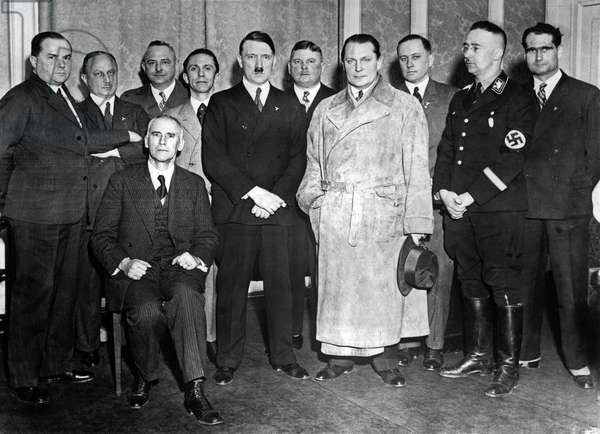 Adolf Hitler introducing his new cabinet, 1933