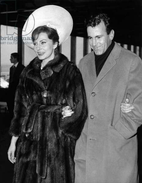 Soraya and Maximilian Schell, 1964