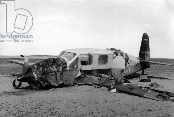 Emergency landing of Saint Exupery, 1935