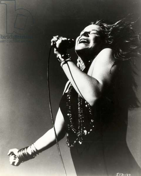 Janis Joplin, 1965-70 (b/w photo)