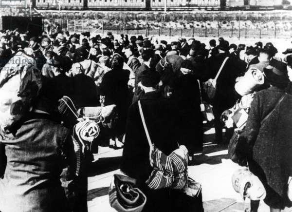 Transport Jews from Amsterdam to Westerbork, Nederland 1943-45