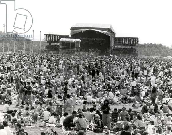 Popfestival Pinkpop, Landgraaf, 23 May 1988 (b/w photo)
