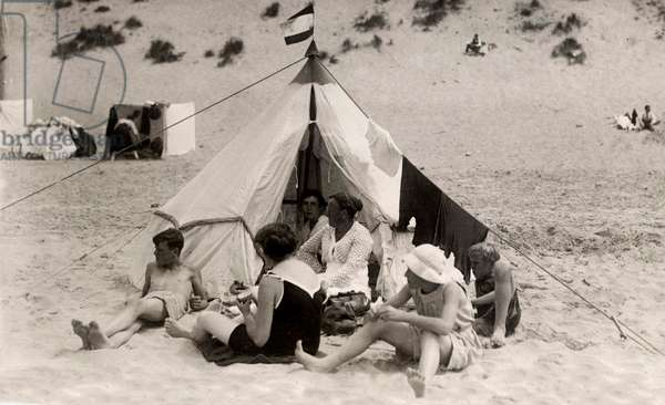 Beach fun, Netherlands, 1921