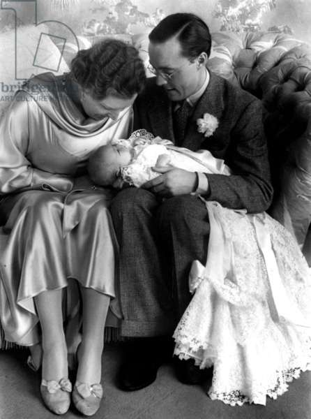 Princess Juliana of Netherlands and her husband Prince Bernhard zur Lippe Biesterfeld with their daughter Princess Beatrix (future queen) 1938