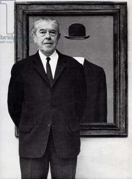 Rene Magritte, 1967 (b/w photo)