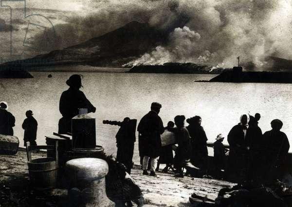 Volcano eruption, Japan, 1914