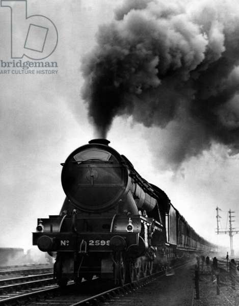 Locomotive the 'Flying Scotsman' no. 2599. England, 1930's