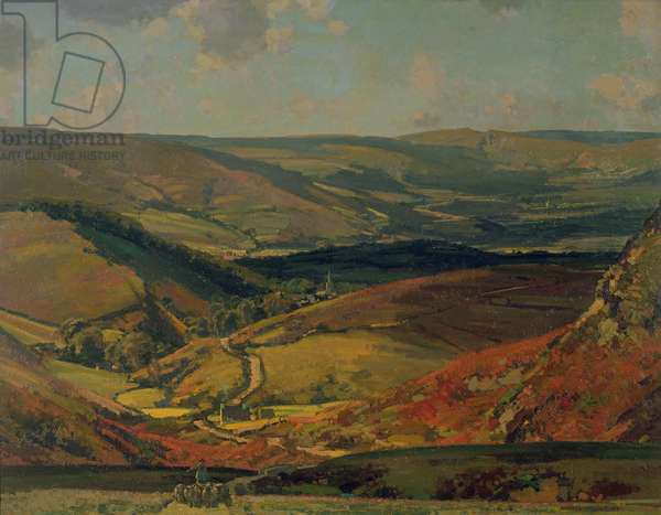 View from the Cupola, Derbyshire, 1924 (oil on canvas)