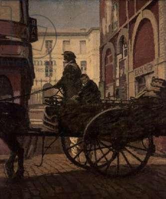 Homeward Bound, La Rue St. Remi, Dieppe (oil on canvas)