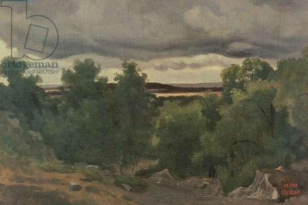 Au Petit Chaville (oil on canvas)