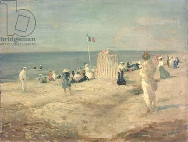 The Beach at Ambleteuse, 1901 (oil on panel)