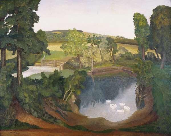 Ashby's Pond (oil on canvas)