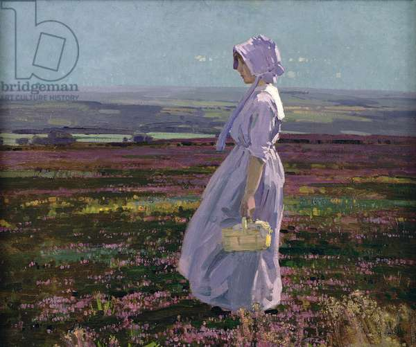 Morning on the Derbyshire Moors, 1920 (oil on canvas)