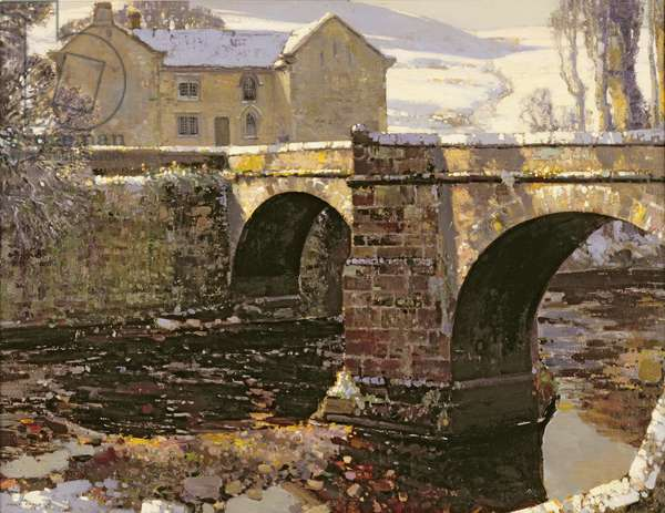 Pack-Horse Bridge, Derwent, 1925 (oil on canvas)