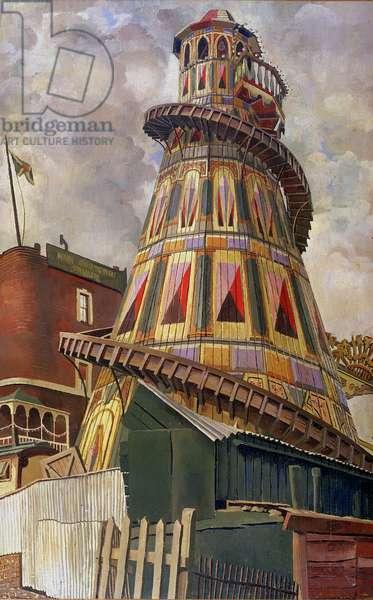 Helter Skelter, Hampstead Heath, 1937 (oil on canvas)