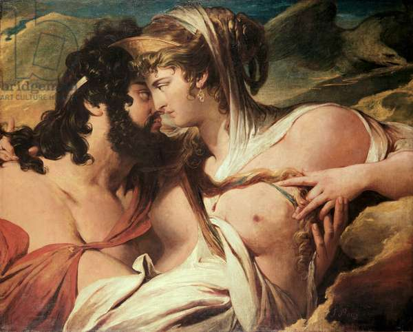 Jupiter and Juno on Mount Ida (oil on canvas)
