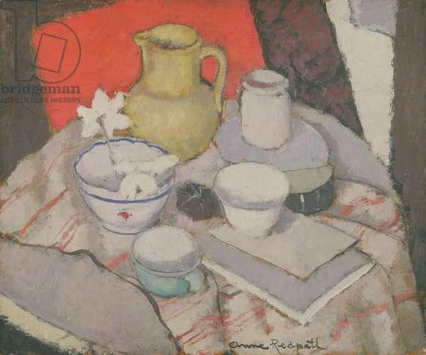 Still Life on Table (oil on canvas)