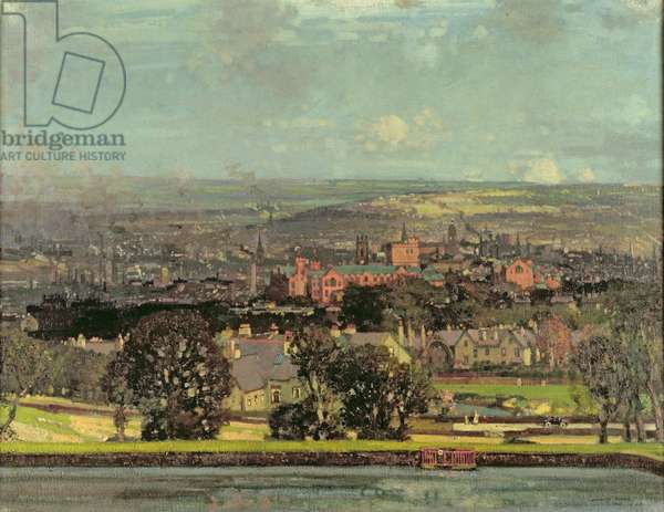 Sheffield from Crookes, 1923 (oil on canvas)