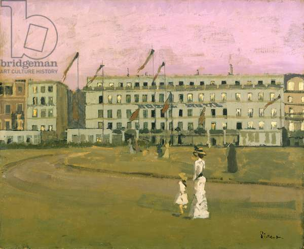 L'Hotel Royal, Dieppe (oil on canvas)