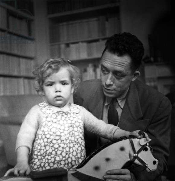 Albert Camus and his daughter