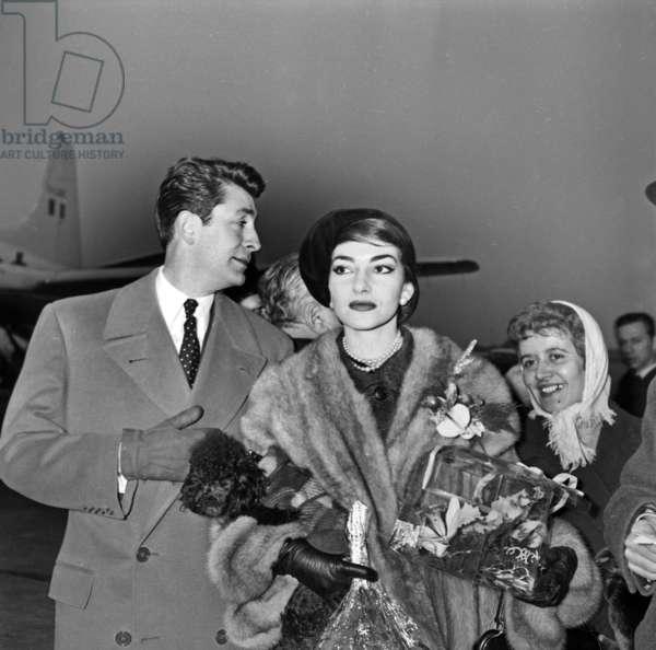 Jean Claude Pascal and Maria Callas