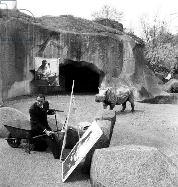 Salvador Dali at the zoo