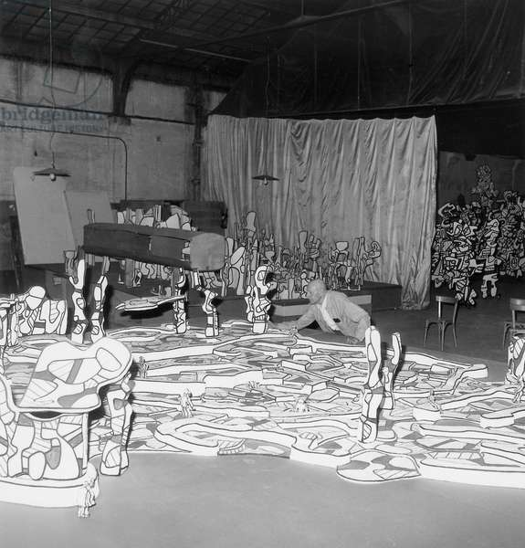 Jean Dubuffet, c.1972 (b/w photo)