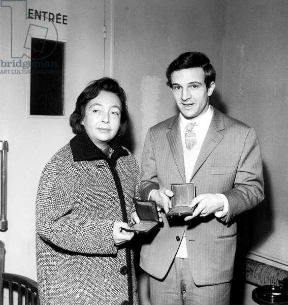 Marguerite Duras et Francois Truffaut