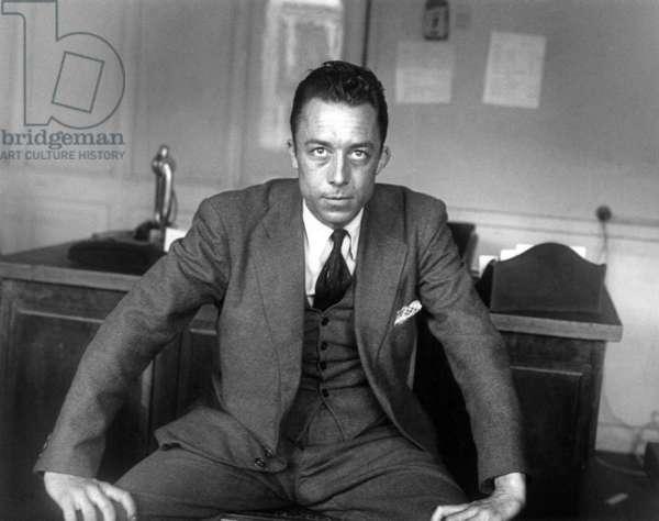 Albert Camus, 1945 (b/w photo)