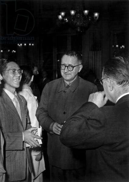 Bertolt Brecht and Jean-Paul Sartre