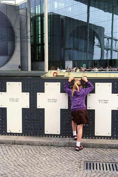 Berlin Wall memorial crosses