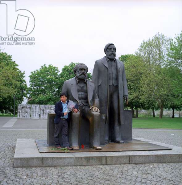 Bronze Statues of Karl Marx and Fredrich Engels.