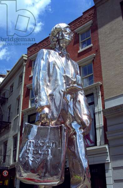 The Andy Warhol Monument, New York, NY, USA.