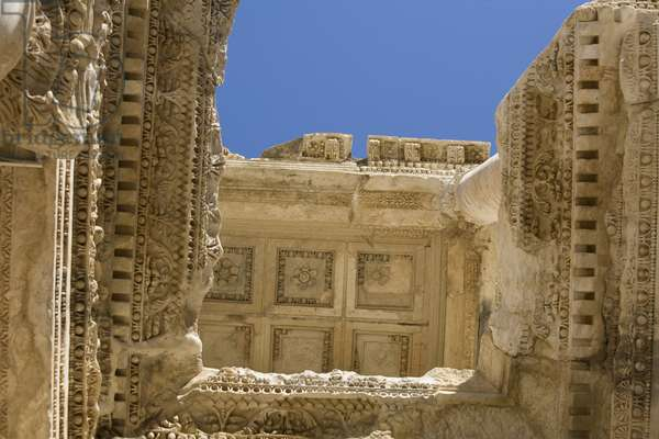 Coffered Ceiling from the Facade of the Celsus Library, Ephesus, Turkey, 2007 (photo)