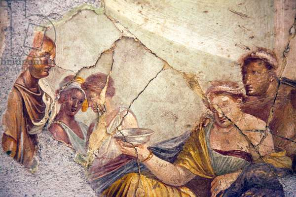 The Death of Sofonisba, Banquet Scene, from the House of Giuseppe II, Pompeii (fresco)